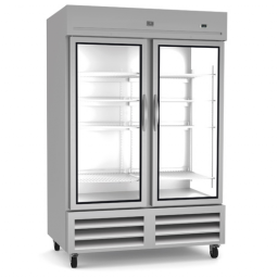 Reach-In Refrigerator, 49 cu. ft. 2 Glass Door, Kelvinator KCHRI54R2GDR