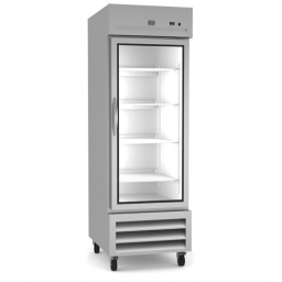 Reach-In Refrigerator, 23 cu. ft. Single Glass Door, Kelvinator KI KCHRI27R1GDR