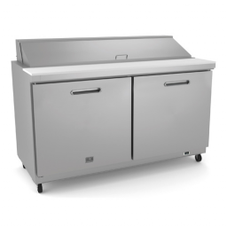 Refrigerated Prep Table, 61 1/4″ Wide., Double Door, Reach-In, Kelvinator KCHST60.16