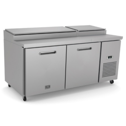 Refrigerated Prep Table, 70 13/16″ Wide., 2 Door, Reach-In, Kelvinator KCHPT72.9