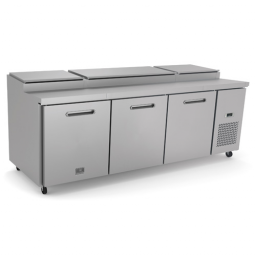 Refrigerated Prep Table,94 3/16″ Wide., 3 Door, Reach-In, Kelvinator KCHPT92.12