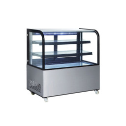 Refrigerated Curved Glass Display Case, 14 cu.ft.