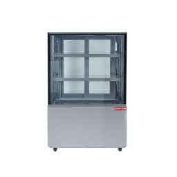 Refrigerated Square Glass Display Case, 14.5 cu.ft.