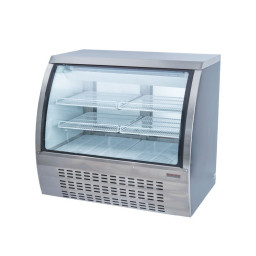 Refrigerated Curved Glass Display Case, 18 cu.ft.