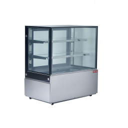 Refrigerated Square Glass Display Case, 19 cu.ft.