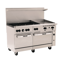 Range, 60″, 6 Burners, 24″ Griddle- Vulcan Endurance