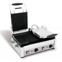 Panini Grill / Sandiwich, Double, Ribbed Top & Bottom- 240V