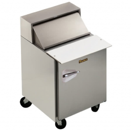 Refrigerated Prep Table, 27″ Wide, Roll Top Lid, Single Door Reach-in, Traulsen UPT276-R-SB