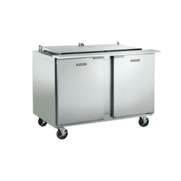 Refrigerated Prep Table, 27″ Wide, Low Profile Flat Lid, Single Door Reach-in, Traulsen UST2706L0-0300