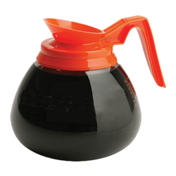 Coffee Decanter, W/ MCL Logo, Black Handle / Orange Handle