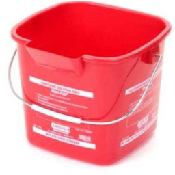 Red Sanitation Bucket, 6 Qt.