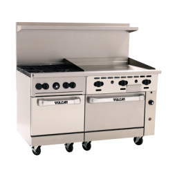 Range, 60″, 4 Burners, 36″ Griddle- Vulcan Endurance